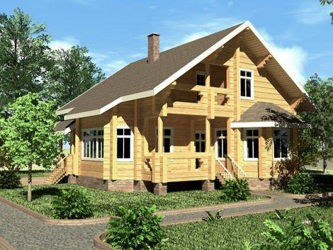 Дом из лафета D-147