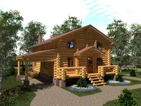Дом из строганного бревна D-181
