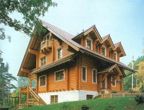 Дом из строганного бревна D-193