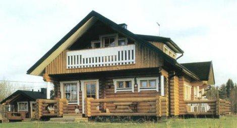 Дом из строганного бревна D-158