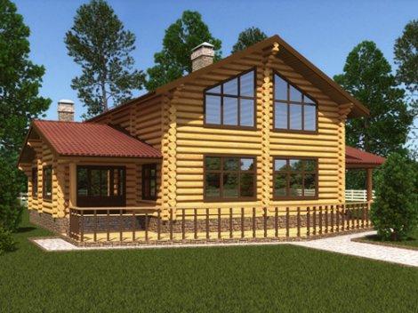 Дом из строганного бревна D-248