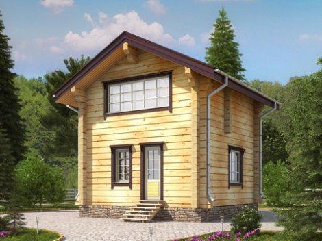 Гостевой дом из лафета D-56