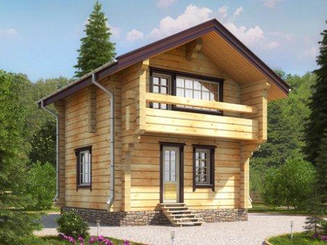 Гостевой дом из лафета D-61