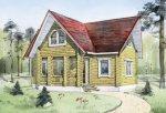 Дом из строганного бревна D-136