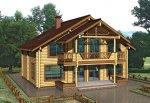 Дом из строганного бревна D-208