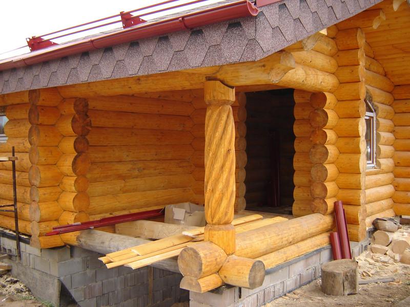фото бани из бревна внутри